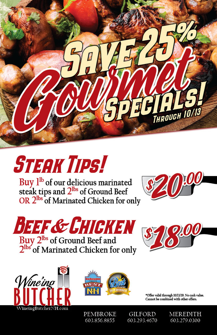 spin to win for great butcher shop specials and deals
